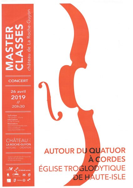Affiche Concert Master Classes le 26 Avril 2019